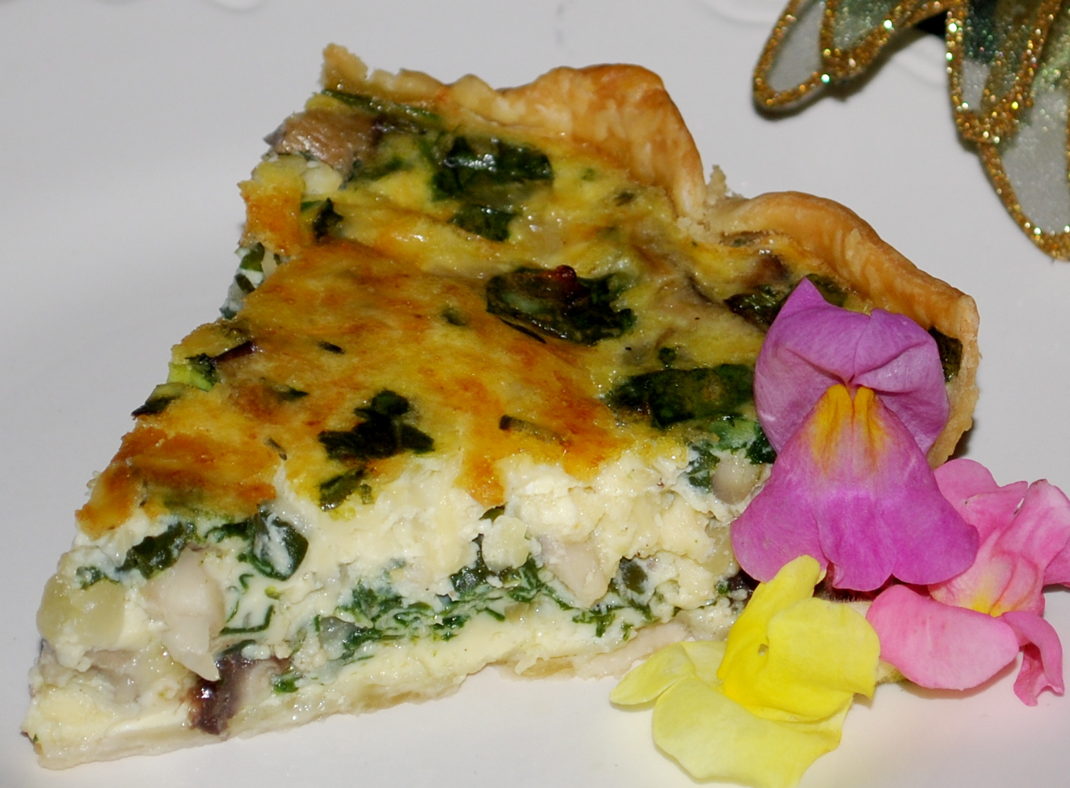 ... Brunch (Deep Dish Bacon, Mushroom and Spinach Quiche) | Chatty Gourmet