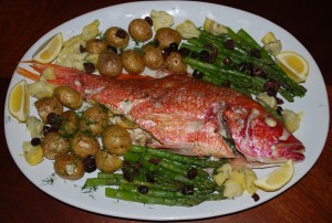 Spring Inspired Dinner Party (Whole Red Snapper)