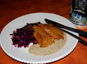 German Fall Dinner Party (Pork Schnitzel with a Mustard Beer Sauce)