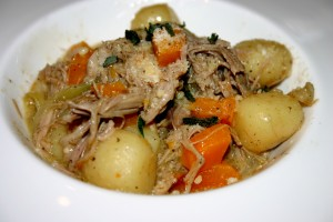 Elegant Fall Dinner (Slow Cooked Duck with Butternut Squash and Potato Gnocchi with a Savory Parmesan Sauce)