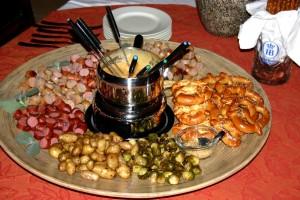 Fun Fall Dinner (German Fondue Platter)