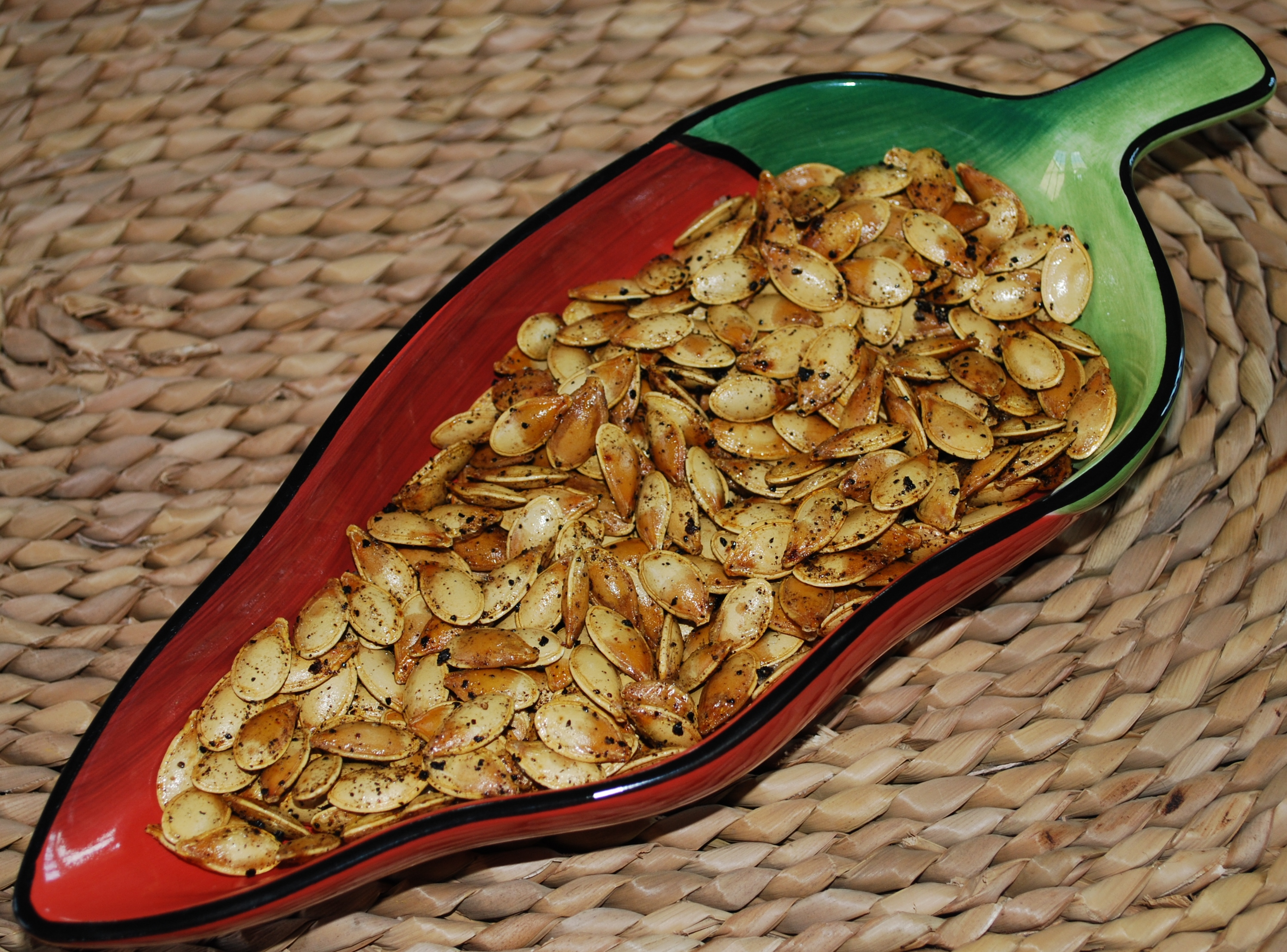 Chili Roasted Pumpkin Seeds Recipe — Dishmaps