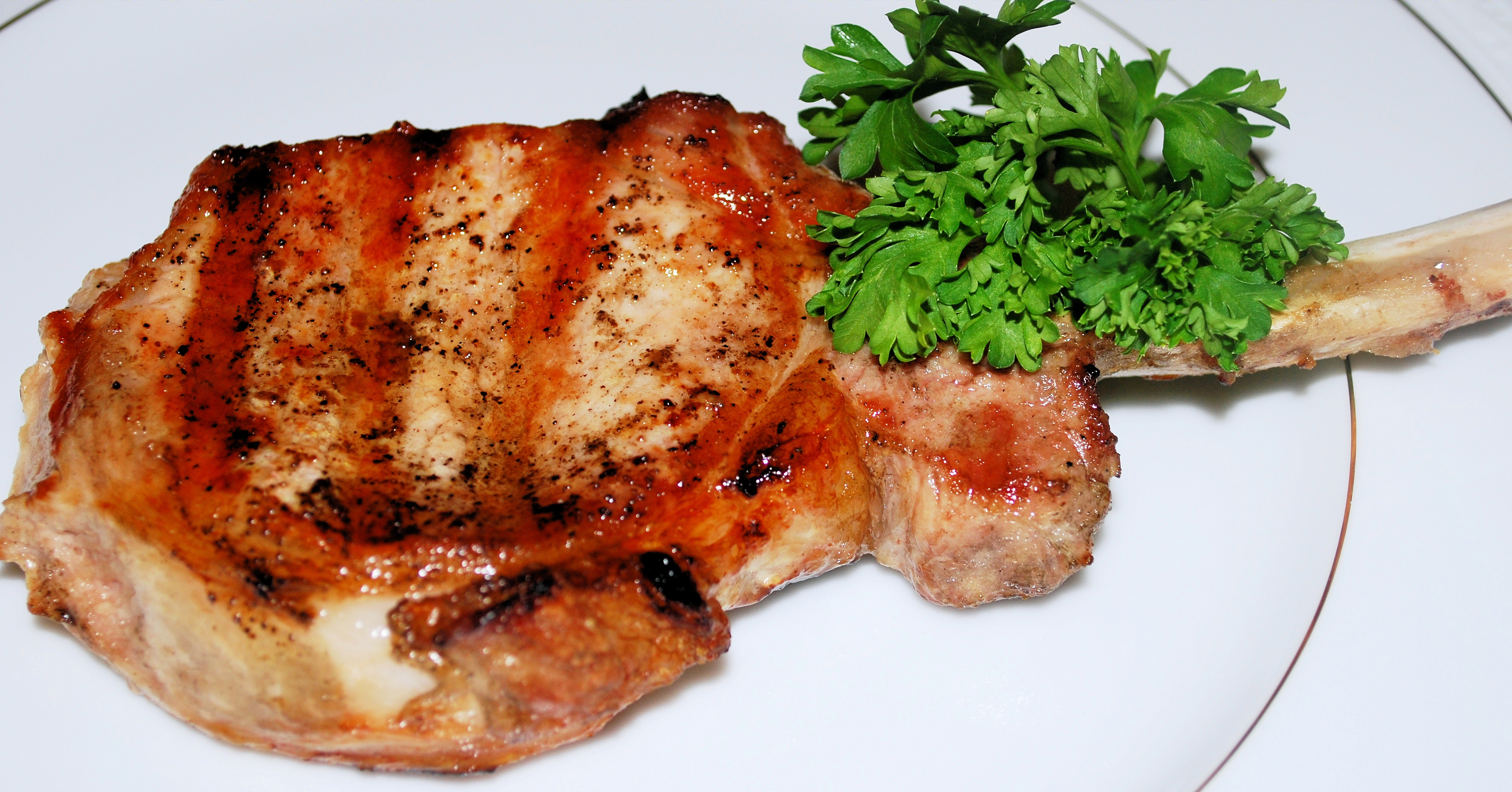 Grilled Pork Loin Chop